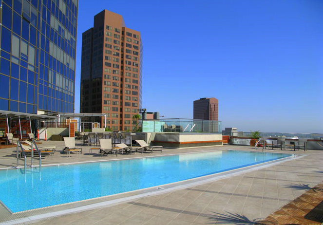 1100 Wilshire lofts for sale in downtown LA condo building pool