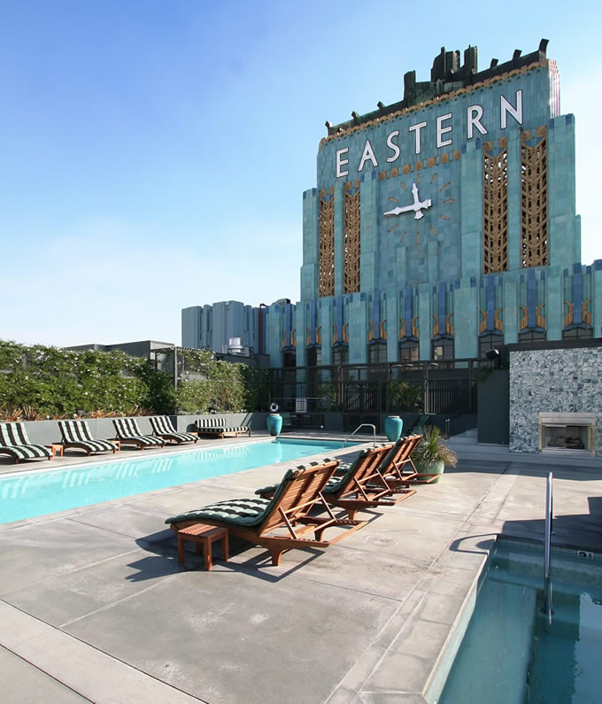 Eastern Columbia Building Clock Tower and Pool
