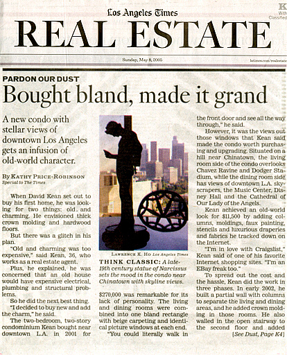 David Kean Los Angeles Times Real Estate Section