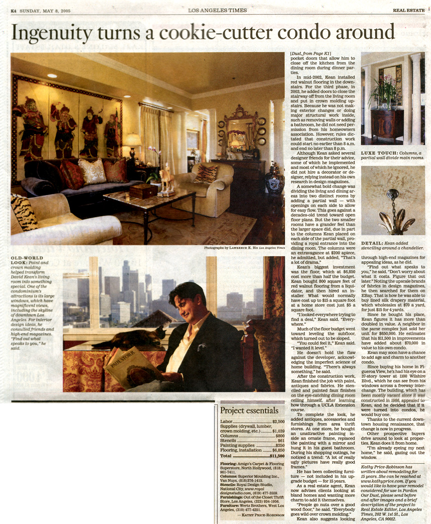 Los Angeles Times Real-estate Section Page 2