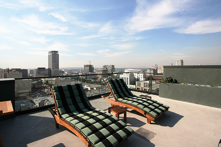 Eastern Columbia Building Lofts Condos Rooftop lounge