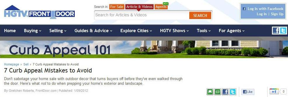 HGTV real estate advice for home sellers