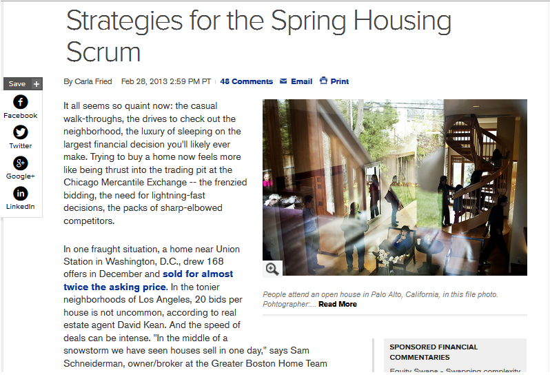 Bloomberg real estate article with David Kean