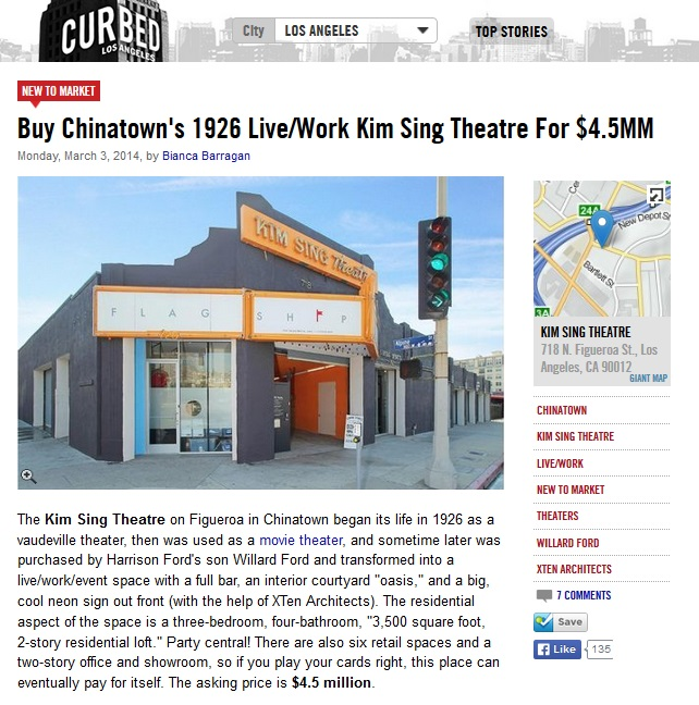 Kim Sing Theatre for Sale Curbed LA real estate article