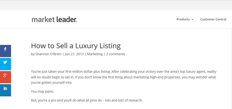 How To Sell A Luxury Listing