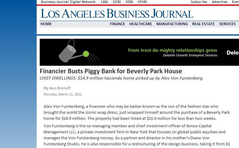 Los Angeles Business Journal Article